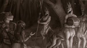 Sting of Steel - hunters in the night by Sythgara
