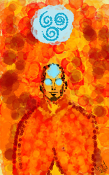 Avatar Aang by fireyfists