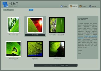 Official dA v5 gallery CSS by 33xiT