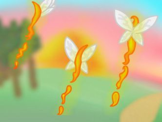 Fire lilies (feuer Lilien) by love2drawponys