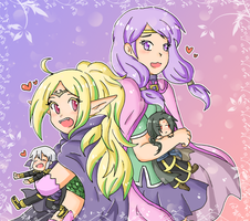 Nowi and Ilyana by SparxPunx