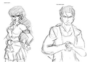 Thad and August character sketch by Imbriaart