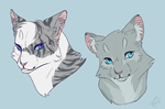 Ivypool and Dovewing by SsilverBeeze