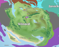 Kingdoms Map - geographic overview - Vilnard by Ravica
