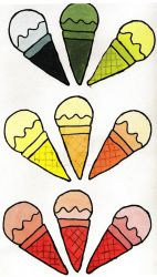 More Ice Cream Cones by Disturbed-Minded