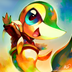 Evan the Snivy by KoriArredondo