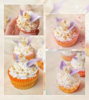 Cupcakes by Me . sugar flowers . by Mandy0x