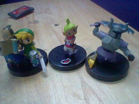 My New Zelda Figuirnes by ribby2000