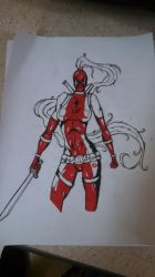 lady deadpool WIP by PeaceArtAndZombies
