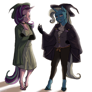 Middle Ages AU: Trixie and Starlight by Shimazun