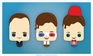 Doctor Who Ice Lollies by amandathompson