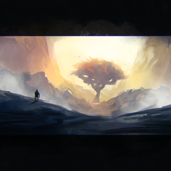 Daily 30 Minute Speed Painting - Lonely Tree by GenelJumalon