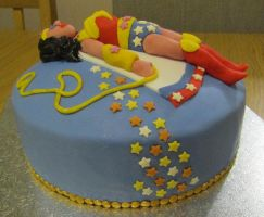 Wonder Woman cake by BevisMusson