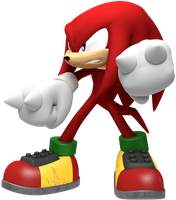 Knuckles the Echidna Battle Render by JaysonJeanChannel