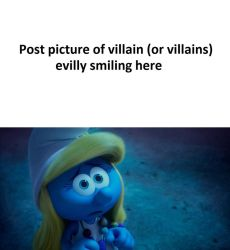 ... thanks Smurfette Meme in Blank by HunterxColleen