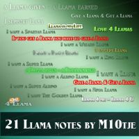 21 Llama notes by M10tje