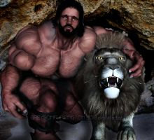 Samson and his Lion by GreysonFurrington