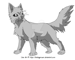 Warrior Cats Line Art by LindsayPrower