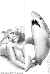 Jess H and Shark bookmarks by DavidFolkie