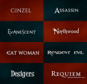 Font Pack #4 by Tekmile
