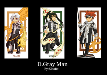 D.Gray Man Bookmarks Set by XiaoBai