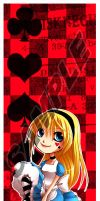 Alice Bookmark by Firefly-Raye