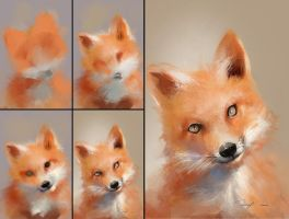 Fox Speedpaint - Process by BisBiswas