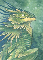 Aceo Flower Dragon Yellow by thedancingemu