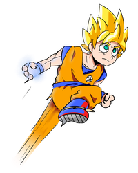 Super Sayian Goku by Tokketsu