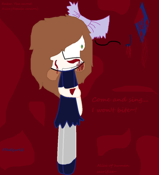 Alice of human sacrifice~ Ember CP OC by FNaFgurl2