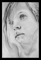 Portrait of a little girl by ivaug