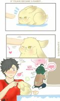 What if Tsukki became a rabbit... by Brabbitwdl