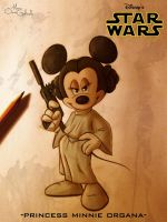 Princess Minnie Organa by MarioOscarGabriele