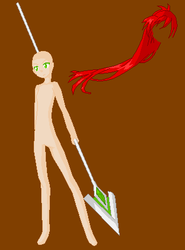 Girl with Spear by Goldflower8