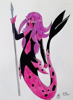 MerMay: Black and Pink by RedVioletPanda