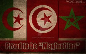 Maghrebian Grunge Flag by Fnayou