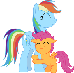 Rainbow Dash and Scootaloo by chipmagnum