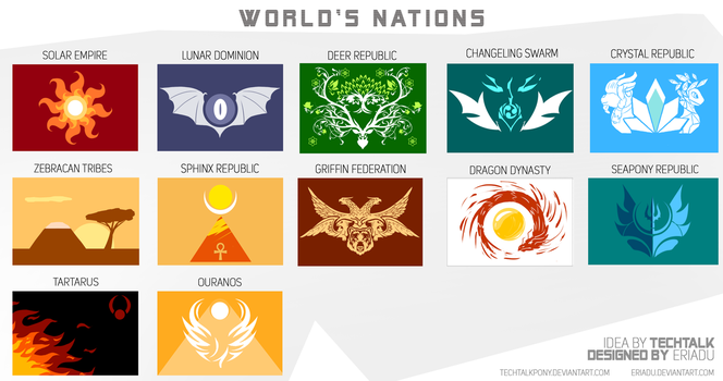 Wold Nations - Flags by TechTalkPony