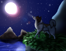 Moonlit Paradise by LadyLirriea