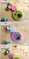 Mushroom Hedgehog Phone Charms by shiricki