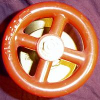 Brass Firehose Valve Top View by FantasyStock