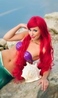 Ariel with cockleshell cosplay by Yana-Mio
