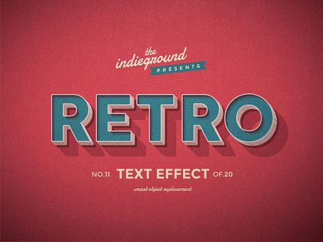 Retro Vintage Text Effect No.11 by IndieGround