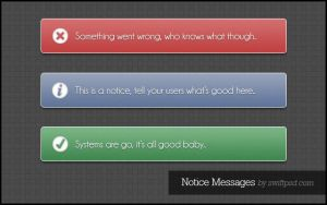 Notice Messages - PSD - by swiftpsd