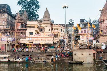 Incredible India - morning at the ghat by Rikitza