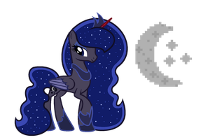 MLP Princess MoonShine by SpeedPaintJayvee12