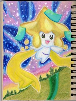 Wishmaker Jirachi in prismacolor by iTiffanyBlue