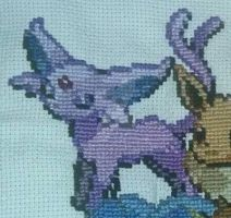 Espeon Cross-stitch by DavisJes