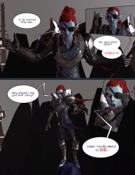 Undyne - Undertale 3D Comic by TheStoff