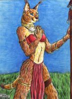My Caracal Fursona - Done by autumnfire